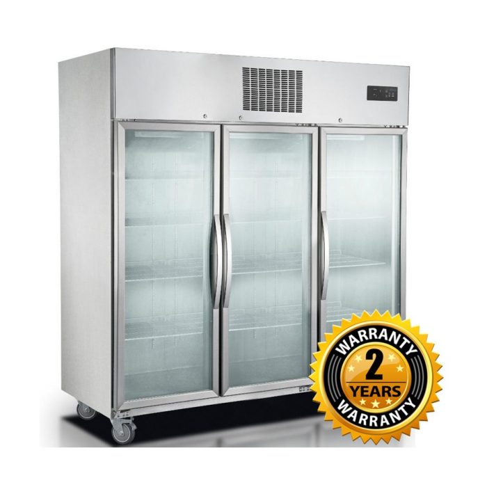 Thermaster Upright 3 Glass Door Freezer - SUFG1500