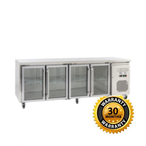 Exquisite Underbench Chiller with 4 Glass Doors - USC550G