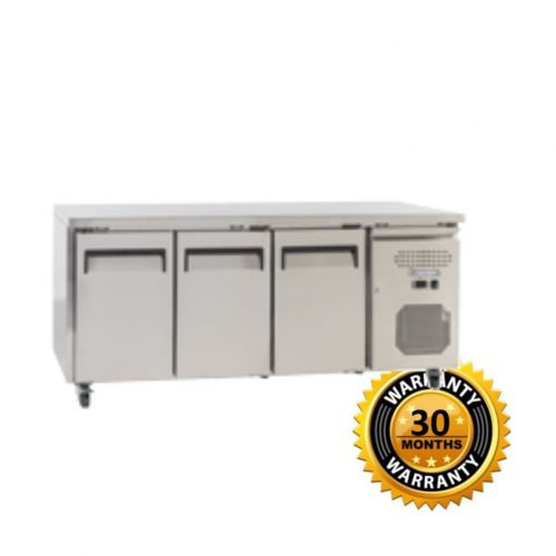 Exquisite Underbench Freezer with 3 Solid Doors - USF400H